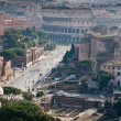 View on ruins and Coliseum — Stock Photo