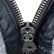 Metal double zipper lock - Stock Photo