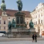 Franzensplatz or Inner Hofburg square in Vienna, Austria — Stock Photo