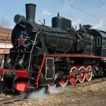 Working steam locomotive — Stock Photo #5719684