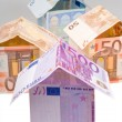 Expensive houses from euro banknotes — Stock Photo #5719760