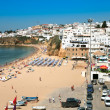 Beach in town Albufeira, Portugal — Stock Photo #5719938