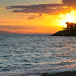 Sunset on Saronic Gulf (Athens,Greece) — Stock Photo