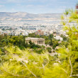 View on Athens and Temple of Hephaestus — Stock Photo