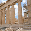 Columns of Parthenon,Acropolis, Athens, — Stock Photo