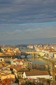 View on on Ponte Vecchio in Florence from above — Stock Photo