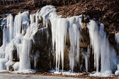 Frozen stream — Stockfoto