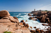 Rose lighthouse on Pink Granite Coast in France — Stock Photo