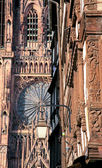 Fragment of cathedral in Strasbourg — Stock Photo