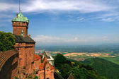 View on lands from medieval castle — Stock Photo