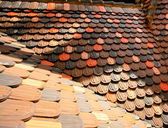 Pendenza del tetto di piastrelle — Foto Stock