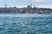 Istanbul view through Golden Horn — Stock Photo