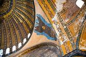 Interiér a kupole na hagia sophia, istanbul — Stock fotografie