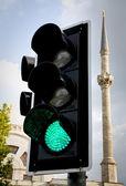 Luz verde — Fotografia Stock