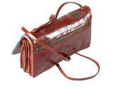 Lady leather handbag — Stock Photo