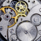 Clockwork close-up — Stock Photo