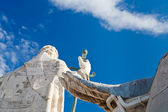 Back side of statue on roof of St. Peter's Basilica in Vatican — Foto Stock