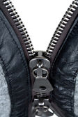 Metal double zipper lock — Stock Photo