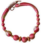 Růžové hedvábné kuličky — Stock fotografie