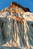 Mountain from white and orange sand — Stock Photo