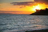 Sunset on Saronic Gulf (Athens,Greece) — Stock Photo
