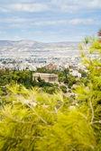 Blick auf athen und tempel des hephaistos — Stockfoto