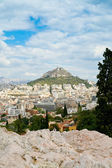 View on Athens and Lycabettus mount — Stock Photo