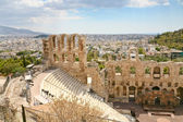 View of the theater Odeon from the Acropolis, Greece — Stock Photo