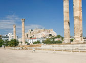 Ruins on Temple of Zeus in Athens — Foto Stock