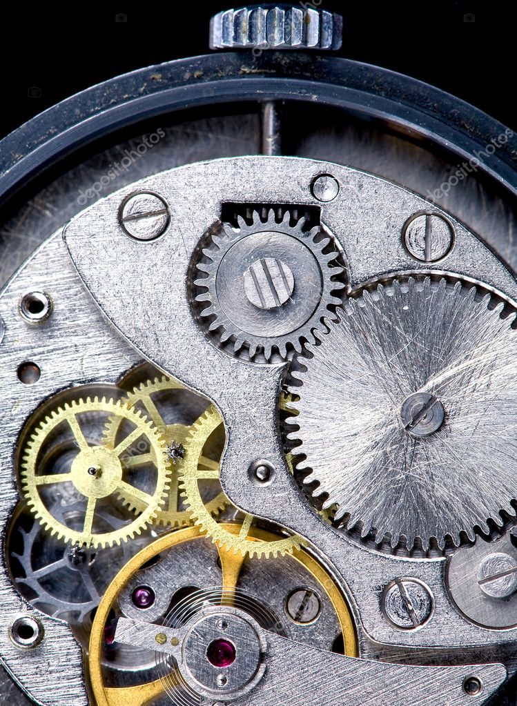 Clockwork of old watch close-up  Stock Photo #5719251