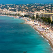 View on Azure coast in Nice - Stock Photo