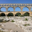 Pont du Gard - ancient Roman bridge — Stock Photo