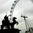 Ver os no london eye — Foto Stock