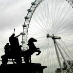 ver en el ojo de Londres — Foto de Stock