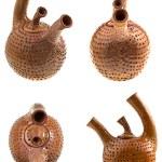 Brown ceramic teapot — Stock Photo