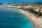 View on Azure coast in Nice — Stock Photo