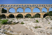 Pont du gard - antiguo puente romano — Foto de Stock