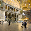 Interior of Hagia Sophia - ancient  Byzantine basilica — Foto de Stock