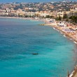 View on Azure coast in Nice, France — Stock Photo