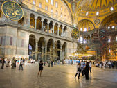 Interior of Hagia Sophia - ancient Byzantine basilica — Stock fotografie