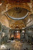 Wnętrze aya sophia - starożytnych bazyliki bizantyjskiej — Zdjęcie stockowe
