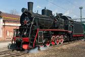 Working steam locomotive — Stock Photo