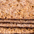 Layers of thin crispbreads — Stock Photo