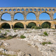 View on Pont du Gard - Stock Photo