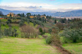 Tuscan hill near Florence — Stock Photo