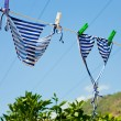 Drying woman swimsuit — Foto Stock