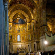 Interior of the medieval Duomo di Monreale, Sicily - Stok fotoraf