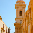 Baroque style street in Noto, Sicily — Stock Photo