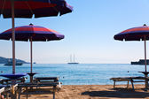 Sand beach in Giardini Naxos — Stock Photo