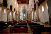 Interior of the medieval Cathedral in Cefalu,Sicily — Stock Photo